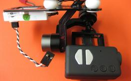 Walkera G2D gimbal with mobius ready to use