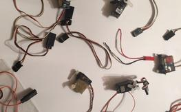 Bunch of servos and extensions