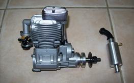 Saito 120 4 Cycle engine. Mint