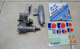 OS 20FP with carb and muffler.