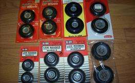 "8 Pairs of new GP/Dubro 2.25""-3.5"" Wheels"
