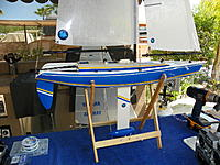 Name: 102_0188_(2).jpg Views: 12 Size: 301.8 KB Description: this view shows the shrouds and backstay converstion to SS leader and rigging screw - makes transporting and sail tuning dirt simple!