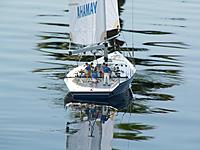 Name: PICT010.jpg Views: 22 Size: 337.3 KB Description: My Yamaha rigged with the 30lb.test leader and sailsetc. 30-030 SS rigging screws. This boat is a tad less than 1M