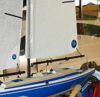 """Name: Sailsetc 030-030 rigging screws1.jpg Views: 28 Size: 51.3 KB Description: My Nirvana ll  rigged using the same materials. This boat is 32"""" in length"""