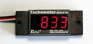 New in package RCEXL Tachometer with Y-Cable