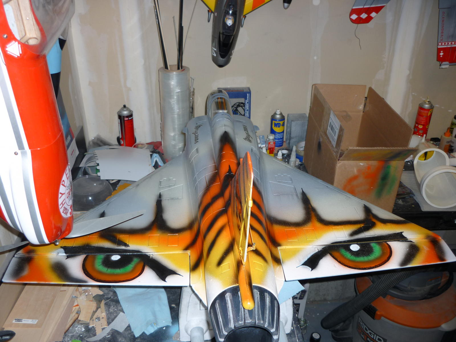 Trying to airbrush.