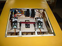Name: Choke, throttle, rudder servos, Rx.jpg