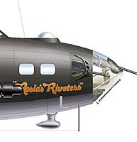 Name: B-17F Rosie's Riveters Nose Art.jpg