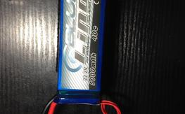 Blue Lipo 6s 5000mah 40c ( Slightly Puffed )