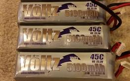 F/S: (4) Voltz 6S 5100mAh 45C lipos