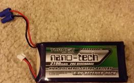 Nano Tech 2S (6.6V) 2100mAh 20C LiFe Rx Battery