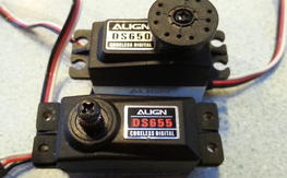 Align tail servos ds650- ds655