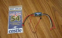 Castle Thunderbird 54 Brushless ESC - Never Used In Plane