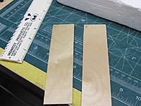 """Name: 003.JPG Views: 2 Size: 149.0 KB Description: Making up a piece of 5/32"""" thick aircraft plywood so that I can then cut 3/8"""" wide strips to be glued next to the Spirit's 5/32"""" dia. music wire landing gear."""