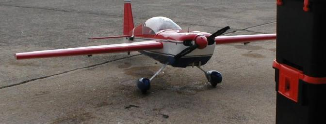 Ready for maiden flight.  Note ll x 6 prop for first flight only.