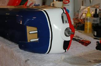 Cowl and wheelpants are pre-painted and match covering well.