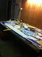 Name: joshs photos 151.jpg Views: 115 Size: 98.1 KB Description: Cut down reject fuse, quick bagged balsa fin