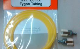 "BNIP 3' 1/8"" Dubro Tygon and 2 Felt Fuel Clunks"