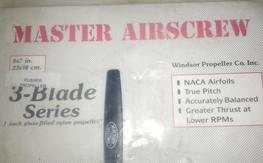 "MASTER AirScrew 9X7"" Three Blade Props"