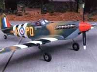 Name: First Foamie, 48 inch span Spitfire, retracts, covered in packing tape.jpg