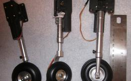 Electric Retract Set with Struts and wheels