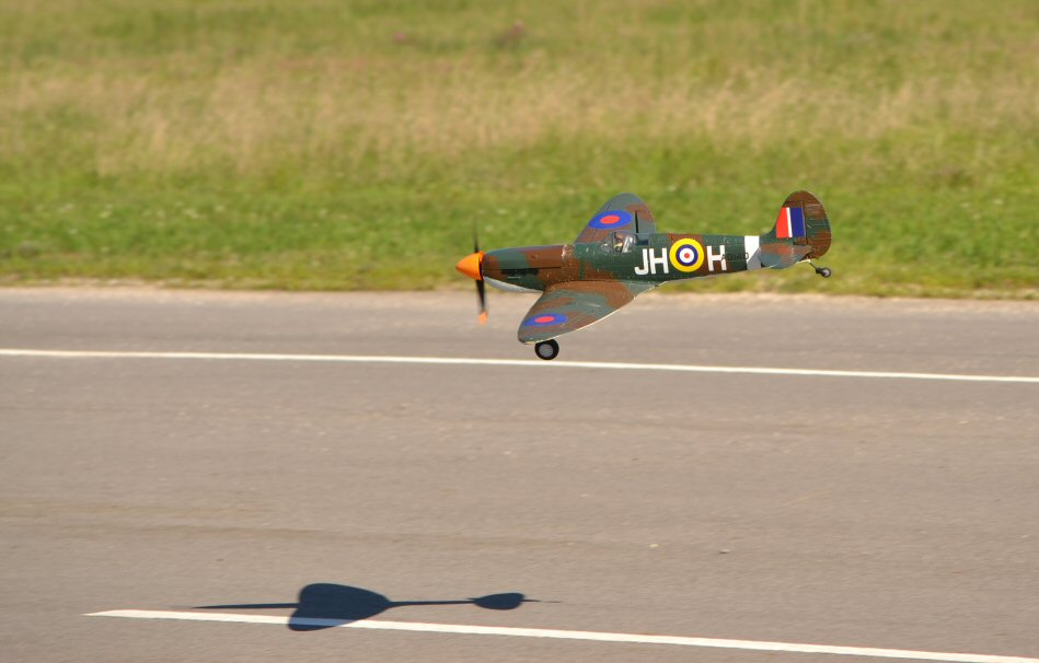 Art Tech Spitfire with PZ P-51 prop and spinner.