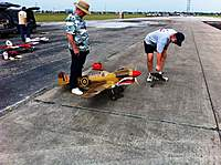Name: Mike and Herman with P-40.jpg