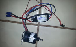 parkzone 15 size motor and 30a esc
