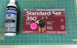 NIB Badger 350 Airbrush set with 2 propellant cans