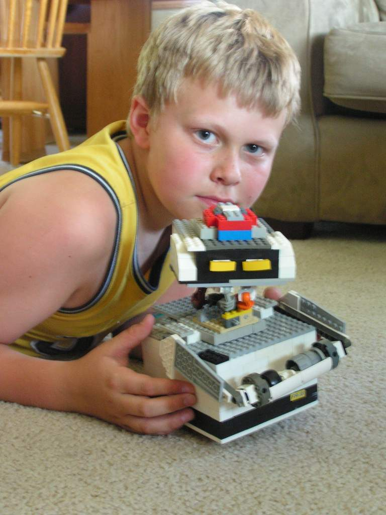 "Me and my Lego ""cleaner bot named MO"