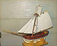 Name: 5-Photo 10 Model Rigged, and with Paper Pattern Sails.jpg