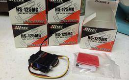 5x New Hitec HS-125MG Thin Wing Servos