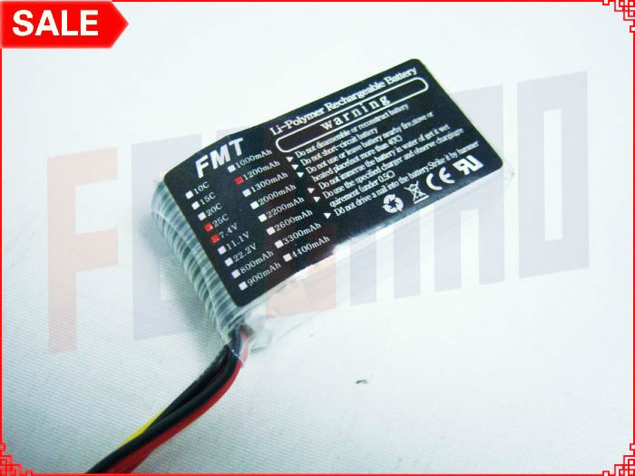 FMT Model 2S (7.4V), 56g, 1200mAh 20/25C Lipos. A huge bargain at just under $7/each on eBay...