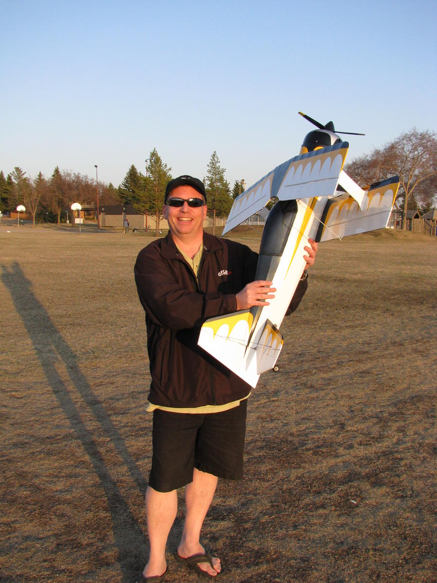 Me just after my successful maiden flight!