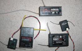 JR R921 DSM2, Spektrum AR9000 DSM2, AR635 DSMX AS3X Receivers