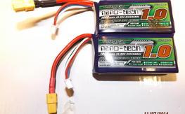 Turnigy Nano-Tech 3s 1000Mah 45c lipos