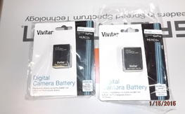 Vivitar 1775Mah Batteries for Gopro - New