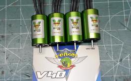 4x Venom V40 3125kv 28x48 32amp inrunner