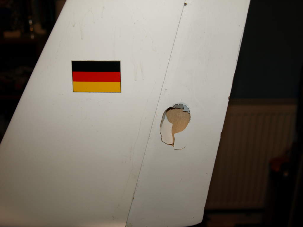 Rudder ventilation. Now fixed.