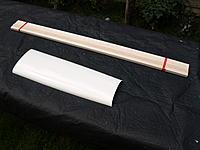 Name: P9249023.jpg Views: 36 Size: 612.7 KB Description: Strip wood and fibreglass front fuselage top deck.