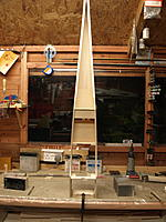 Name: P9259075.jpg Views: 42 Size: 443.3 KB Description: A good way of holding the fuselage to work on it is to clamp it to the bench.