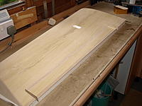 Name: P9309113.jpg Views: 32 Size: 472.3 KB Description: Shimming an aileron either end to give 1 mm clearance.