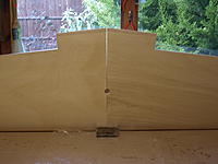 Name: P9309121.jpg Views: 30 Size: 553.4 KB Description: With both leading edges flat on the board there was a slight gap, left alone as I could only make it worse!