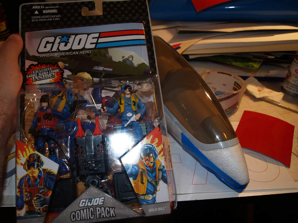 One old fashioned GI Joe set on special $6.99 from TJ Maxx. Not quite the perfect scale - lighter is better!