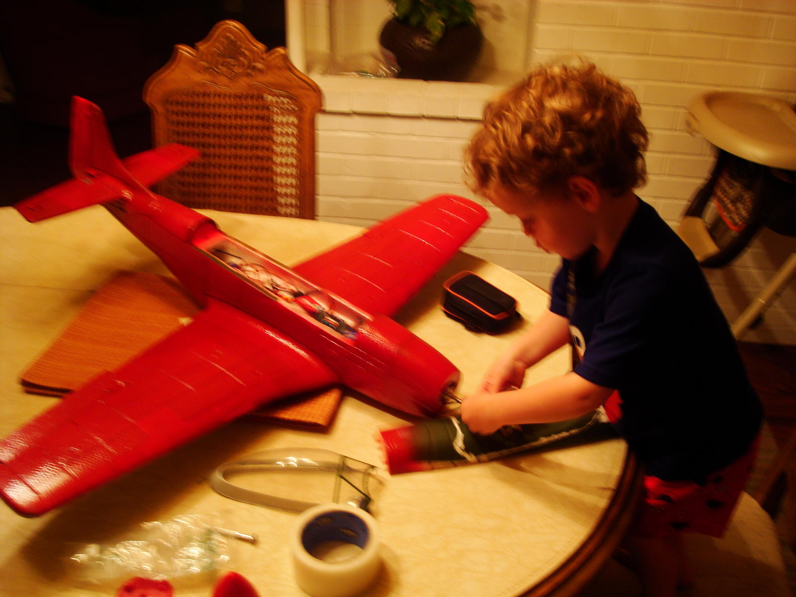 Rebuilding a new, very red, Reno Racer with my main man.