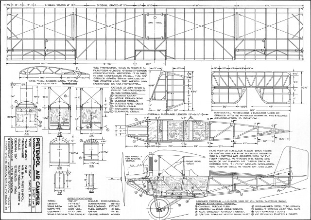 Attachment browser pietenpol air camper aug 1969 aam for Electrical as built drawings sample