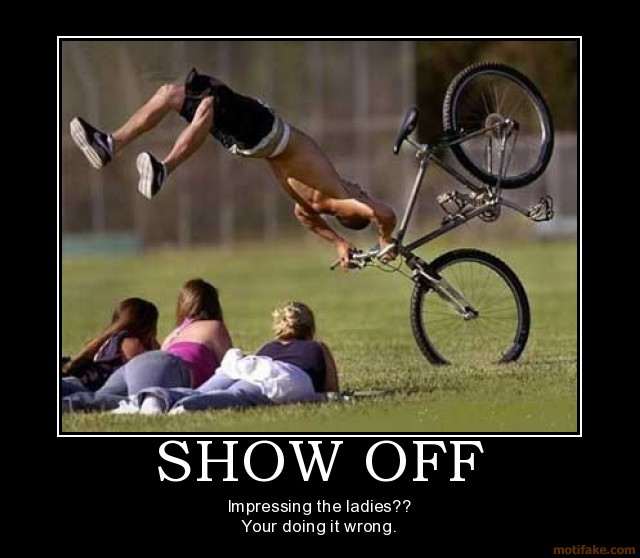 Funny Car Accident Quotes: Attachment Browser: Show-off-girls-bike-crash-funny