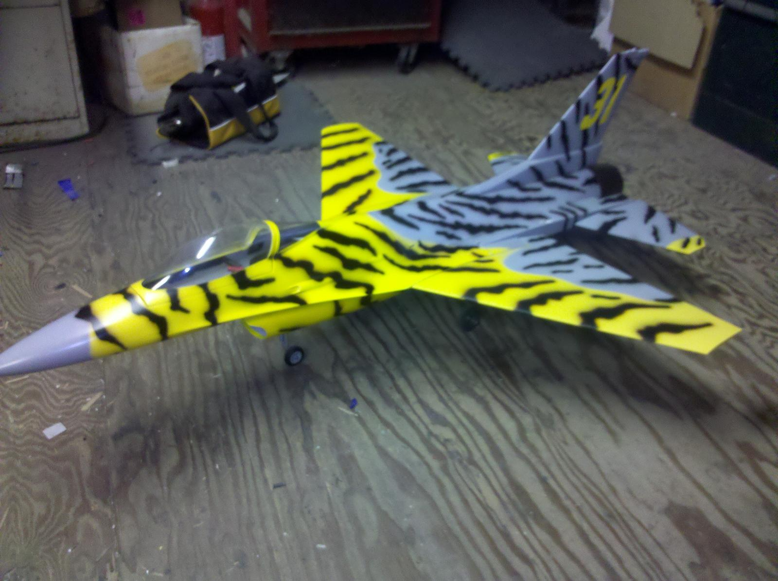new wings installed and sitting on her legs, Tamjets mini air's with brakes