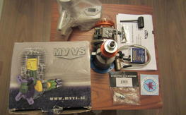 BNIB -MVVS 35cc IFS PETROL + B.C.M. Inverted Wraparound Pitts Muffler + Radial Mount