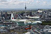 Name: Mossie over Auckland.jpg